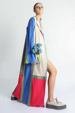 Cardigan multicolor din tricot
